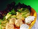 Рецепта Постни сарми от тиквички с извара, сметана и сирене